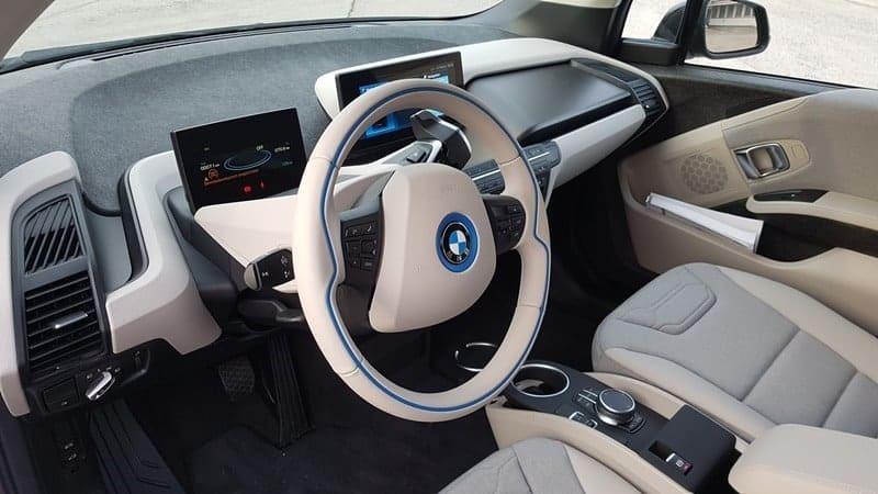 Innenraum des BMW i3 von INSTADRIVE