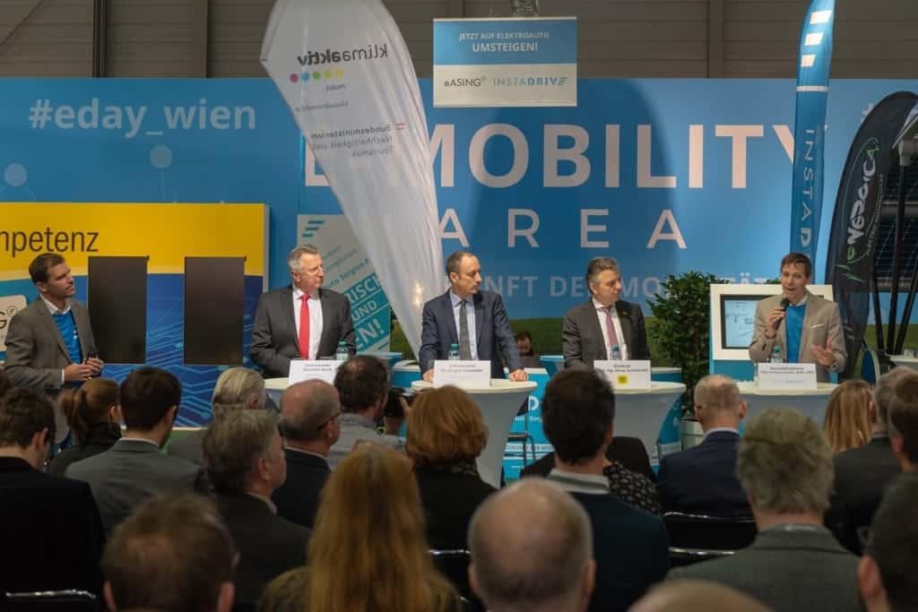 Pressekonferenz der E-Mobility Area
