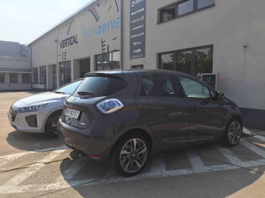 Der Renault Zoe auf dem INSTADRIVE-Gelände