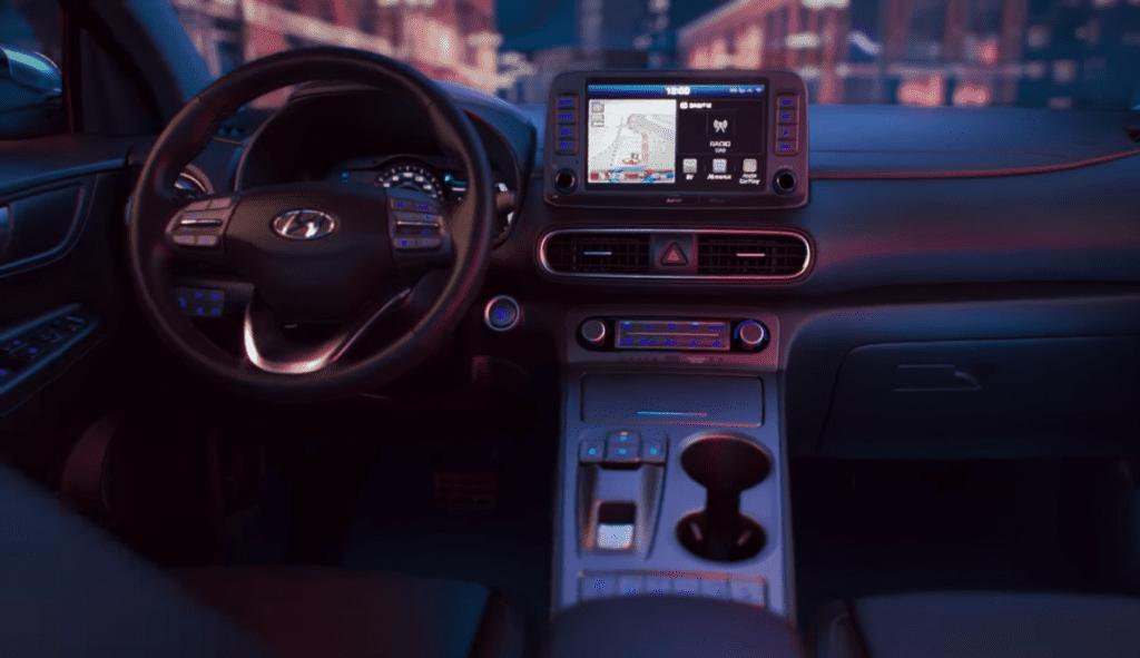 Innenausstattung des Kona von Hyundai